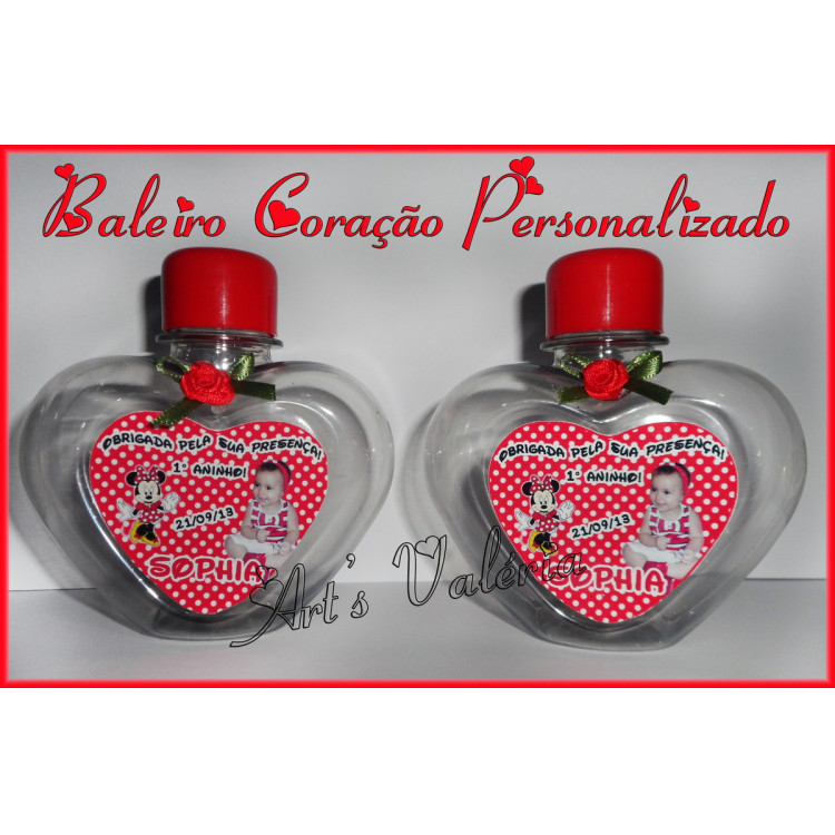 BALEIRO CORAçãO PERSONALIZADO - 250ML